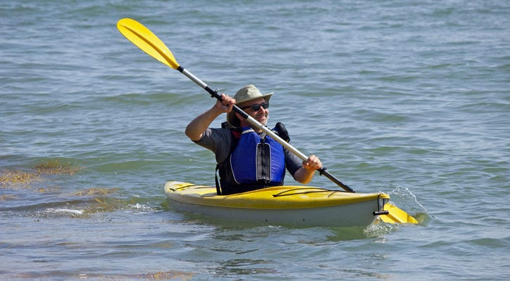 image of kayaker