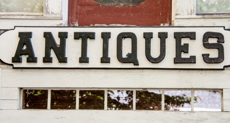 image of antique sign